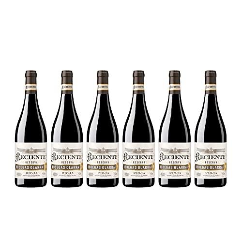 Reciente - Vino Tinto Reserva, DOCa Rioja Alta, Bodegas Olarra, Pack de 6 botellas de 750 ml
