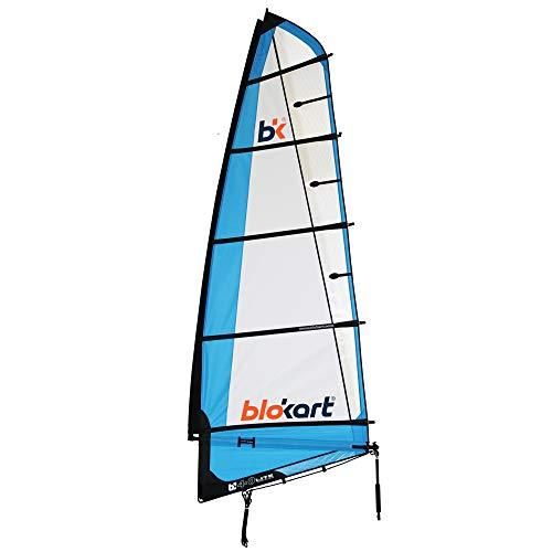 Patiente eléctrico Blokart Sail Complete 4.0m Blue Unisex Adulto, Azul, 4.0 m2