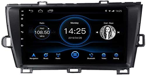 Coche Estéreo Auto Audio Player Doble Din FM Radio Android 10.1 SAT NAV LCD Monitor De 9 Pulgadas Pantalla Táctil GPS Navegación Compatible Con TOYOTA PRIUS 2010-2015,8 core 4G+WiFi 2+32GB