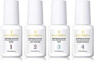BORN PRETTY 7ml Dipping Nail Powder System Liquid Clear Nail Art Manicuring Gel Polish No UV Lamp Needed Set 4