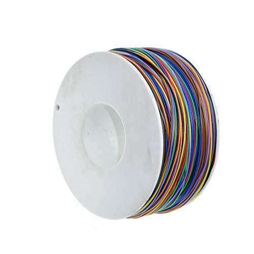 KEPUSHIYE DIY Electrónica Accesorios 265m 8 Color 30AWG Jump Hilo de Recubrimiento de Cobre estañado Aislamiento de PVC sólido Solo filamento del Cable de Cobre Ok Alambre eléctrico de Alambre XF30