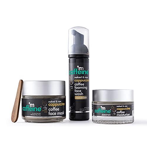 mCaffeine Acne Control Kit – Cappuccino Coffee Routine with Vitamin E, Salicylic Acid | Face Wash, Face Mask, Moisturizer | All Skin Types | Cruelty Free & Vegan
