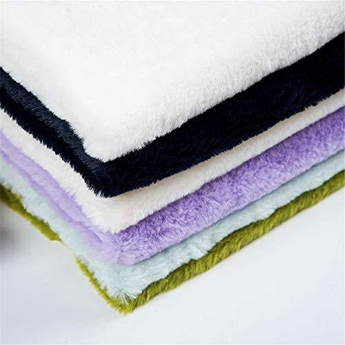 Hongma A4 Tela de Pelo Sintético Teñido Tela Piel Sintética de Fur Pelo Corto 300g/m2 para Manualidades Costura Patchwork