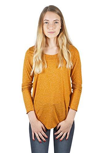 VERO MODA Damen Langarmshirt Vmlua LS Top Noos, Gelb (Cathay Spice), 42 (Herstellergröße: XL)
