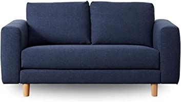 Koala Lounging Sofa with a Classic Silhouette, Wide Armrests and Timber feet | 2 Seater, Bonnie Doon Blue