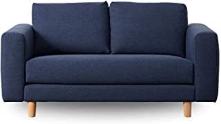 Koala Lounging Sofa with a Classic Silhouette, Wide Armrests and Timber feet   2 Seater, Bonnie Doon Blue