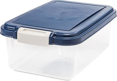IRIS Airtight Food Storage Container, Navy