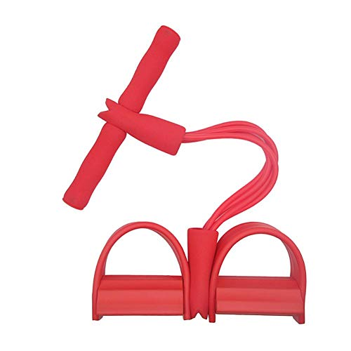 Namgiy 4 Tubes Elastische Zugseil Multifunktions-Leg-Exerciser Sit-Up Bodybuilding Expander Fitnessbänder für Pilates Yoga Muskelaufbau
