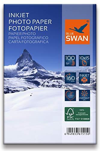 200 Blatt Fotopapier 10x15 cm, 160g/qm, highglossy (hoch-glaenzend) - wasserfest-hochweiß-hohe Farbbrillianz, Fuer Inkjet Drucker (Tintenstrahldrucker) (10x15cm 160g)