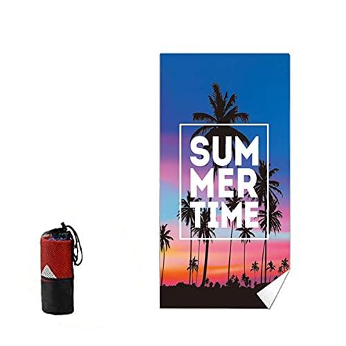IAMZHL Toalla de Playa Toalla sin Microfibra Absorbente Manta Suave de Secado rápido con Bolsa para Toalla portátil sin Arena para Exteriores-Style 2-One Size