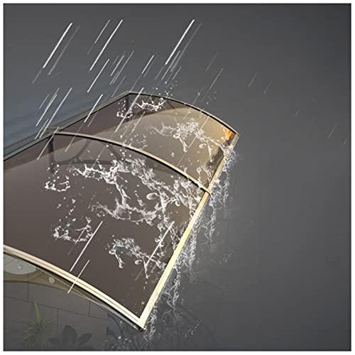 YANAN Tejadillo De Protección Marquesina De Policarbonato, 60x100cm 100x300cm Cubierta De Lluvia para Ventana del Balcón, Impermeable, para Terrazas Canopy (Color : Transparent, Size : 100x200cm)