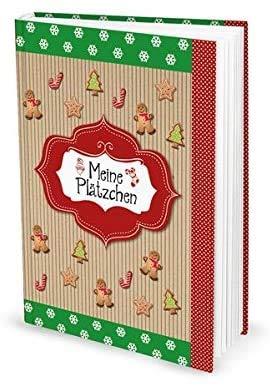 Rezeptbuch zum Selberschreiben für Plätzchen Weihnachtsplätzchen backen - Weihnachten, DIN A5, Hardcover mit 136 leeren nummerierten Seiten + Inhaltsverzeichnis - ein Weihnachtsgeschenk