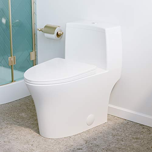 Swiss Madison SM-1T128 Bastille One Piece Elongated Dual Flush Toilet