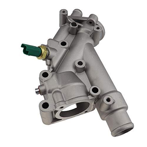 GXDD Sistema de enfriamiento del motor de aluminio Thermosta Tousing Flanging Fit para Peugeot 307 407 Citroen C4 C5 1338.AV 1338AV 1336.x9 (Color : With 1 sensor)