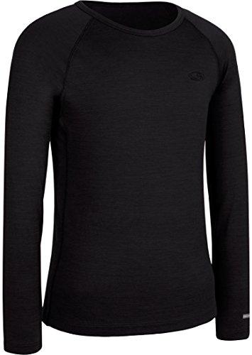 Icebreaker Merino T-Shirt Unisexe à Manches Longues Oasis 200 pour Enfant 5 Noir