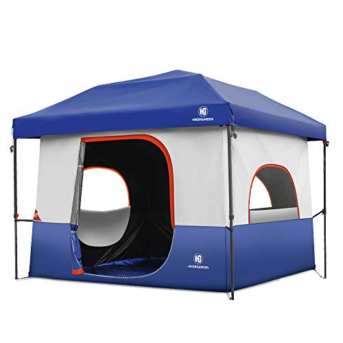 Tents-for-Camping-5-Person, Dark Room Cube Tent, Pop up 10x10 Canopy, UV 50+ Waterproof Windproof Family Tent, Portable with Wheeled Carry Bag, for All Seasons