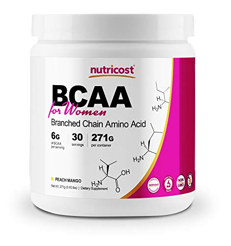 Nutricost BCAA for Women (Peach Mango, 30 Servings) - Formulated Specifically for Women - Non-GMO and Gluten-Free