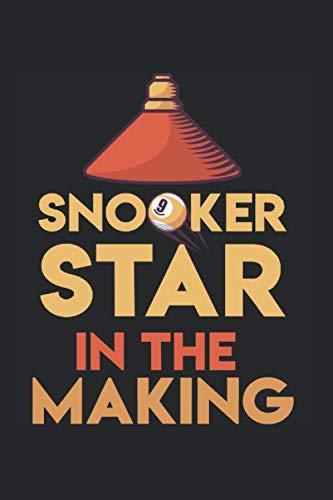 Snooker Star In The Making: Leeres Billard Notizbuch für Billardspieler zum selbst eintragen und notieren. Notizheft für Ergebnisse, Skizzen und ... für Billardfans, Pool & Snooker Spieler