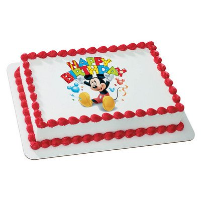 Mickey Mouse Happy Birthday Licensed Edible Cake Topper #35376