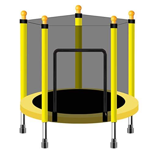 LKFSNGB kinderen van de familie springen de trampoline met veiligheidsnet, sporten binnenshuis, de sportschool van de familie, kinderen de stille trampoline