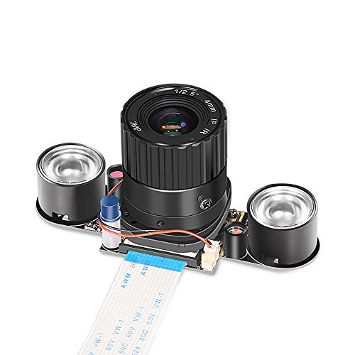 for Raspberry Pi Camera Module 4 B 5MP 1080p OV5647 Automatically Switching Between Day-Vision and Night-Vision Webcam Lens 72 Degree FoV for Raspberry Pi Model A/B/B+, Pi 2 and Raspberry Pi 3,3 b+