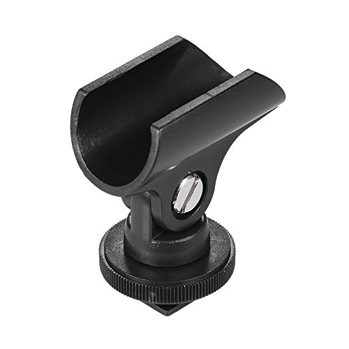 Andoer 19mm plástico Clip micrófono micrófono soporte