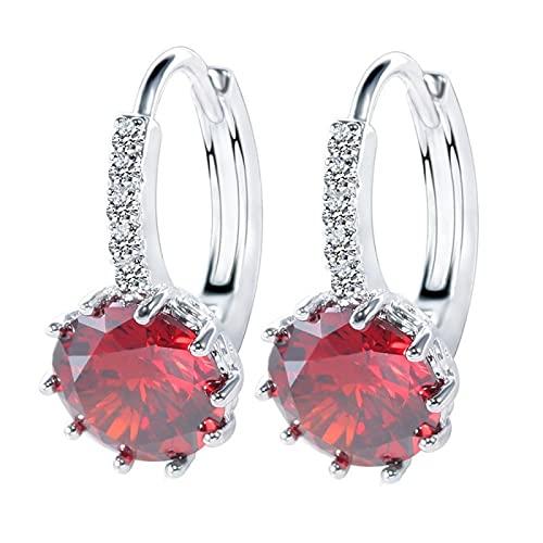 DFDLNL Earings Holiday Pendientes de aro Multicolor Pendientes Femeninos Azules Regalo de San Valentín para Novia 8