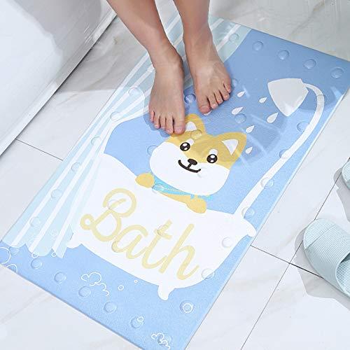 YLCCC Alfombra Dibujos Animados, Textura Inferior Antideslizante Ventosa Fuerte Carpet Impermeable Seguro Duradero Baño Bañera Almohadilla Niños Almohadilla,2,40x70