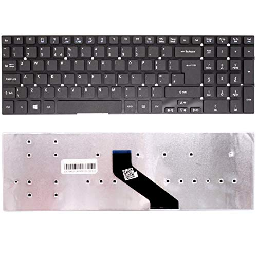 New Laptop Keyboard Replacement For ACER E5-571, E5-571G, E1-572, E1-532, E15, E5-511,E5-511G, ES1-531, ES1-731, ES1-711, E5-511P, E5-521, E5-521G UK Layout English Non Backlit Keyboard without frame