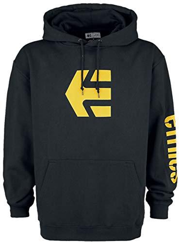 Etnies Icon Hoodie Männer Kapuzenpullover schwarz/gelb XL, 80% Baumwolle, 20% Polyester, Streetwear
