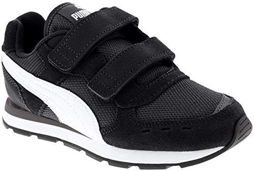 PUMA Unisex-Kinder Vista V PS Sneaker, Black White, 28 EU