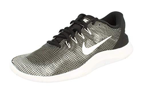 Nike Men's Flex RN 2018 Running Shoes, Black/White, 11