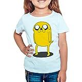 Camiseta Niña - Unisex Dibujos Animación, Personajes, Jake el Perro - Hora de Aventuras (Blanco, 11 años)