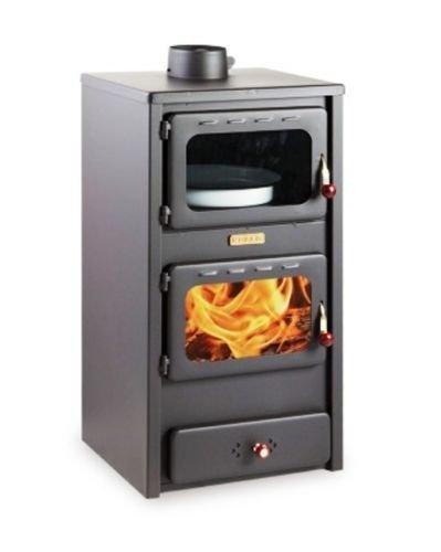 chimenea de madera para para calefacción KUPRO LUX con horno, 11kW