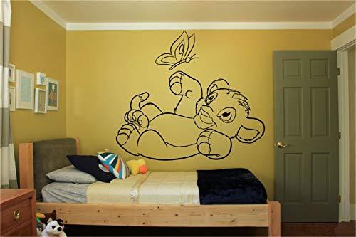 sticker mural Roi Lion Decal Vinyle Wall Decal Autocollant Décor Nursery Roi Lion Simba Cartoon Nursery vinyle décalque