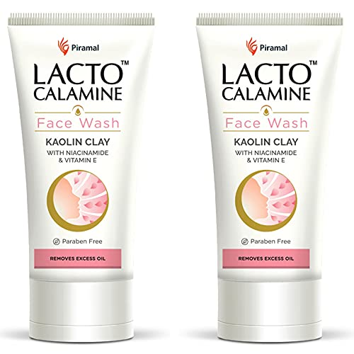 Lacto Calamine Face Wash with Kaolin Clay for Oily Skin, 100 ml (Pack of 2)