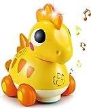Archile Musical Grawling Baby Juguetes for niños de 1 año, niñas, Toque GO Light Up Dinosaur Sound Kids Juguetes for el 1 2, Aprendiendo Interactivo Niño Niño Niña Niña Regalos for 6 9 12 18 Meses de