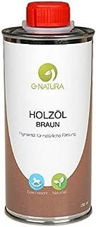 G-NATURA Pigmentöl zum Färben von Holz in natürlichen Farbtönen – verschiedene Farben 250 ml, Braun