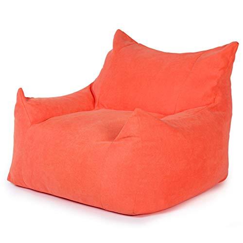 MxZas Haushaltsliege Sofa Couch Liege High Back Bohn Bagstuhl Großer Buttersackstuhl für Erwachsene und Kinder Bohnenaufbewahrungstasche (Color : Taigeli red, Size : One Size)