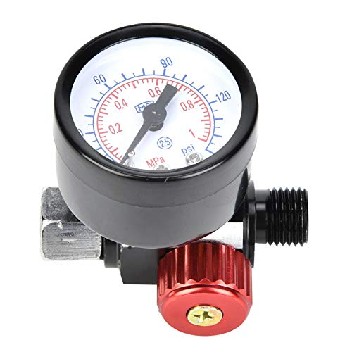 Regulador de compresor de aire, regulador de presión de aire, aleación de aluminio BSP profesional duradera de 1/4 pulg. Para herramienta neumática para pulverización
