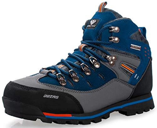 Weweya Hombres Botas de Senderismo Zapatos de Trekking resbaladizo Caminar Transpirable Zapatilla...