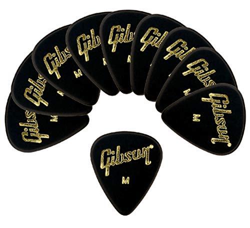 Gibson『ピック ティアドロップ MEDIUM-BLK 10枚セット(GG-74M Standard)』