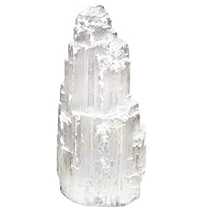 Himalayan Glow Selenite Skyscraper, Basic, White
