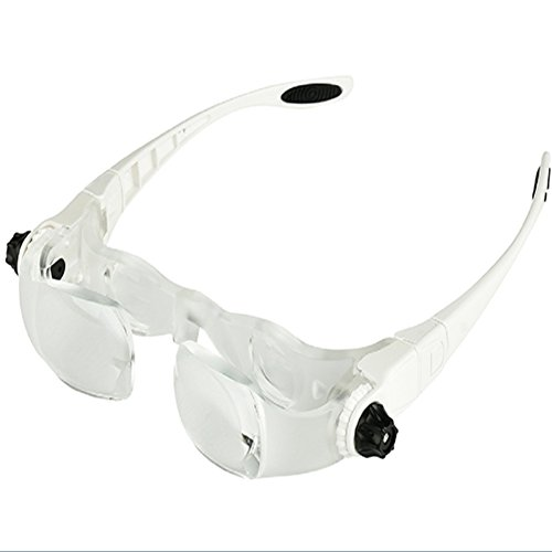 Kop-dragen Vergrootglas Met LED Lights 4 Times Ouderen Lezen Krant Bril HD Reparatie (afneembare Spiegel Benen, Installatie Scrunchies)