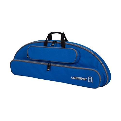 Legend Wolf Original Genesis Compound Bow Case - Thick Padding, Backpack Straps, Soft Handles for NASP Archery (Blue)