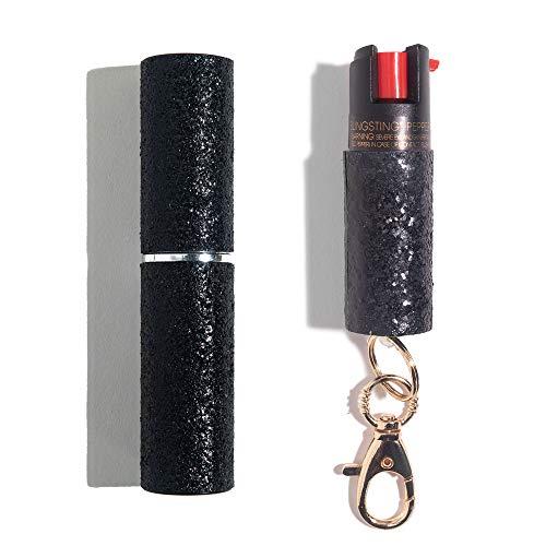 Lipstick Stun Gun & Keychain Pepper Spray Self-Defense Kit for Women Includes Two Personal Safety...