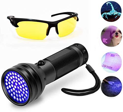 Black Light Flashlight, 51 LED Black Light for Urine Detection for Pet Urine,uv-2