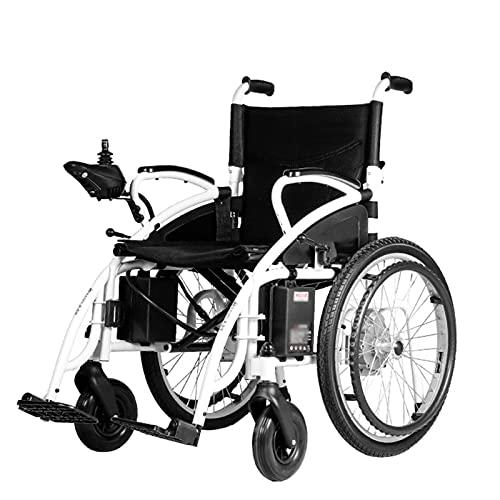 LFLLFLLFL Scooter para Ancianos Y La Silla De Ruedas Eléctrica Plegables Livianos para Discapacitados, 250W Modo De Doble Motor De Doble Motor En Marco De Acero Al Carbono Espesado. Ruedas Grandes