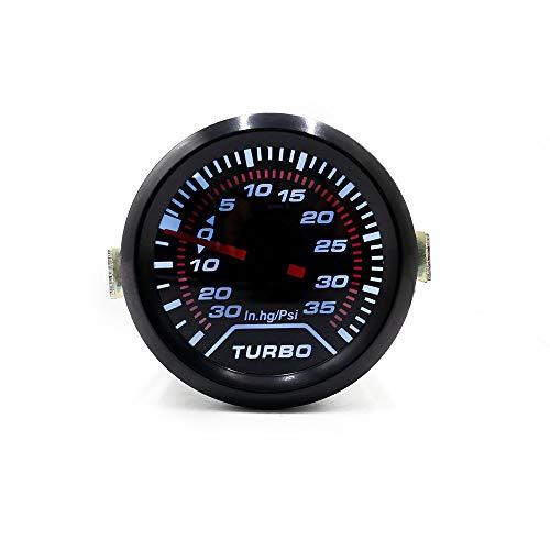 Ligero 2'52mm Turbo Boost Gauge PSI Dial Luz blanca Interior Dash Gauge Car Meter durable