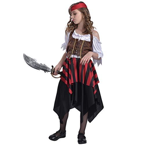 EraSpooky Pirata Niña Disfraz Falda Carnaval
